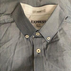 EXPRESS Men's dress long sleeve shirt size M